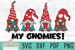 Love My Gnomies Valentine Layered SVG Cut File Product Image 1