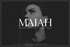 Maiah Serif Font Family Pack Product Image 1