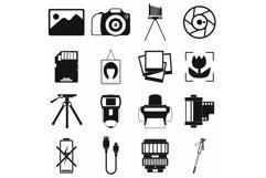 Photography set icons Product Image 1