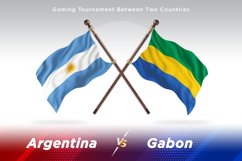 Argentina vs Gabon Two Flags Product Image 1