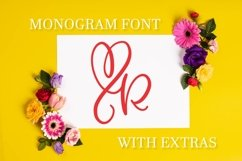 CLN - Monohearts - A Monogram Heart Font with Extra Doodles Product Image 1