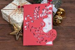 Santas Boot Christmas Invitation cutting file Product Image 3