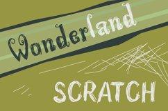 Wonderland Scratch | Pen Sketch Font Product Image 1