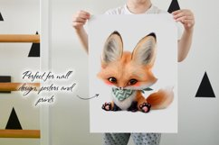 Baby fox clip art set, PNG, PSD Product Image 4