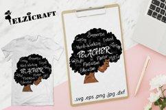 Afro Woman Teacher Life SVG Cut File Product Image 1
