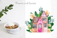Sweet Home. Watercolor cliart Product Image 2