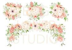 Watercolor Peach Romance design Product Image 3