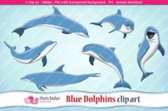 Blue Dolphins clip art Product Image 1