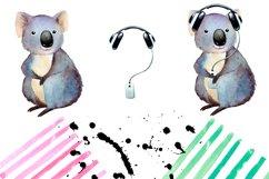 Watercolor koala clipart Product Image 2