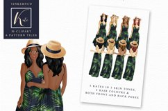 Tropical Travel Fashion Girl for bloggers and planners Product Image 5