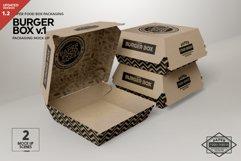 Burger Box Packaging Mock Up v1 Product Image 1