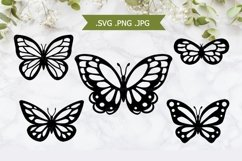 Butterfly SVG - Butterfly Papercut Template Product Image 1