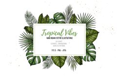 Tropical Vibes. Sketch vectors Product Image 1