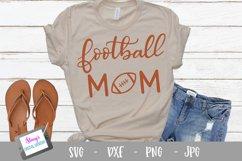 Football mom SVG - sports mom SVG file, handlettered Product Image 1