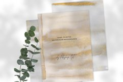 Watercolor Glittered Gray & Beige Background 5x7 Product Image 5