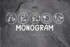Arrow Monogram A Hand-Lettered Monogram Font Product Image 1
