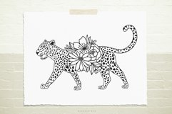 Cheetah flowers svg cut file Product Image 1