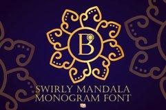 Swirly Mandala Monogram Font Product Image 1