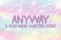 Web Font Anyway - A Fun Hand-Lettered Font Product Image 1