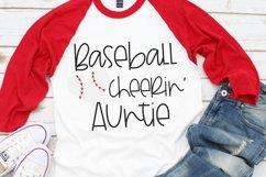 Baseball Heart - Baseball Cheerin' Auntie SVG Product Image 2
