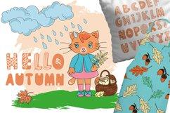 CUTE AUTUMN KITTY Clipart Pattern Alphabet Vector Animation Product Image 6