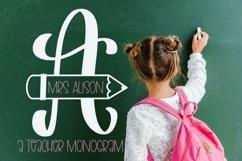 Web Font Teacher Pencil Monogram Split Font Product Image 1