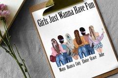 Best Friends Clipart,Fashion girls,Portret creator,BFF Mug Product Image 5