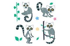 Vector Lemur Clip Art Product Image 2