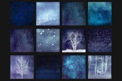 Winter digital paper Product Image 2