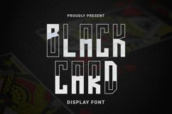 Web Font BLACKCARD Font Product Image 1
