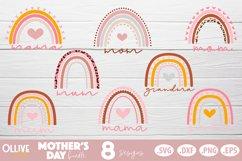 Mother's Day Boho Rainbow SVG Bundle, Mothers Day Bundle Product Image 2
