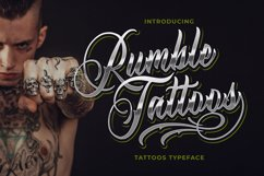 Rumble Tattoos - Tattoos Typeface Product Image 1