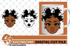 Melanin svg, Dreadlocks svg, African American, Natural Hair Product Image 1