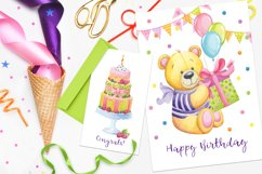 Happy Birthday hand painted watercolor collection Product Image 4