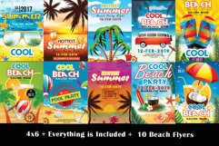 10 Summer Beach Party Flyers Bundle Product Image 1