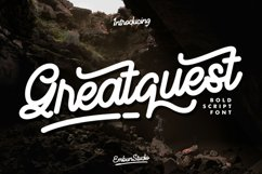 Greatquest Bold Script Product Image 1