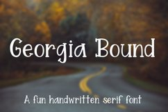Georgia Bound - A fun handwritten serif font Product Image 1