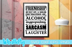 Friendship SVG DXF EPS Built on the Foundations Of SVG Product Image 1