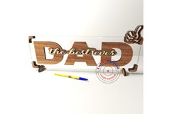 Dad sign vector files, father's day decor. Glowforge ready. Product Image 3
