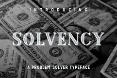 Web Font Solvency Product Image 1