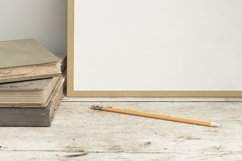 Stationery mockup, Smart object PSD file , wooden desk mockup, 8x10 art template Product Image 4