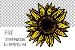 Sunflower PNG Sunflower clipart Sunflower shirt Sublimation Product Image 2