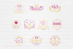 Wedding Stamp Vector Badges Logos Product Image 1