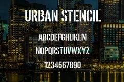 Urban Stencil Display Font Product Image 2