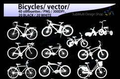 bicycle silhouette svg / Bicycles / bicycle / bicycle riders Product Image 3