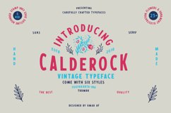 Calderock Typeface Extras  Product Image 1