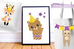 Woodland Birthday Graphics and illustrations, vecto Product Image 4