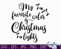 Christmas Svg, My Favorite Color Is Christmas Lights Svg Product Image 2