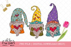 Valentine gnome with heart, doodle sublimation png file Product Image 1