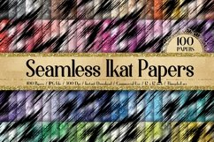 100 Seamless Glitter Ikat Tie Dye Pattern Digital Papers Product Image 2